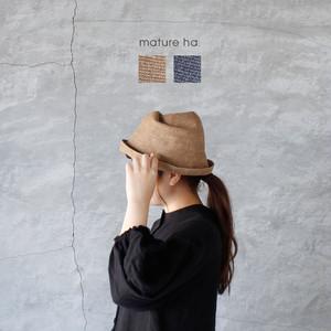 mature ha. (マチュアーハ)free hat linen 送料無料
