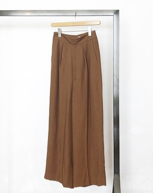 sacra/ triace linen twill wide pants