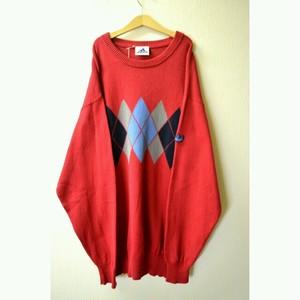 "1990's ""adidas""  argyle knit"