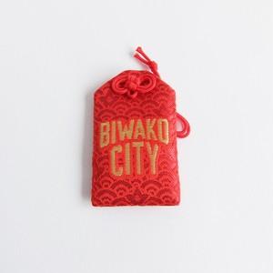 【販売中】大野神社 × -CONNECT- / BIWAKO CITY / 安全御守 / グッズ / レッド