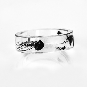 Black clear ring ブラック クリア リング
