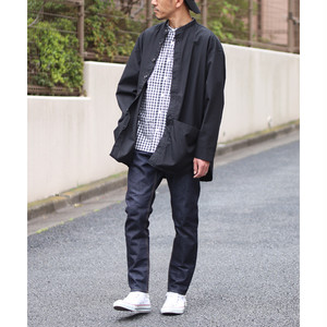 Gristone-W Cotton×Nylon Gabardine Gardening Coat Black