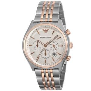 エンポリオ アルマーニ EMPORIO ARMANI クロノ クオーツ メンズ 腕時計 AR1998 シルバー シルバー