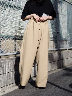 NATSUMI ZAMA Wide Trousers Beige