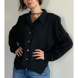 80's-90's vintage black blouse long sleeve