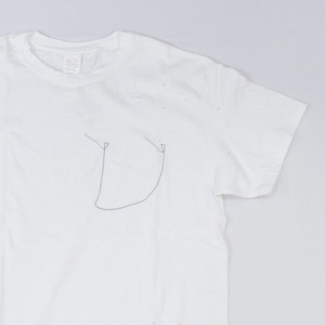[ WEST SHORE ] Handmade Damage Tee - white