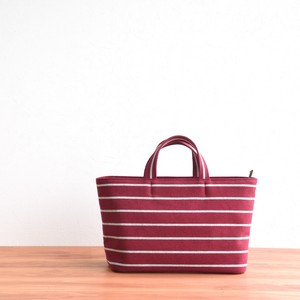 BORDER TOTE FM / WINE RED