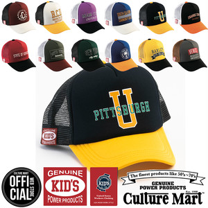 CULTURE MART(カルチャーマート) キッズ メッシュキャップ カレッジ プリント KID Mesh Cap Print College 2020年モデル (101307)