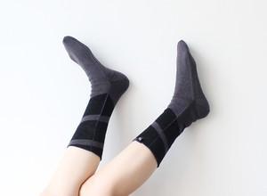 % PERCENT 靴下(春夏:グレー・ブラック)抗菌・防臭・吸水・通気性(男女兼用)