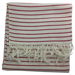 小さい姉妹の手織りマフラー(白・赤)/フランス 子羊の弟子 小さい姉妹会