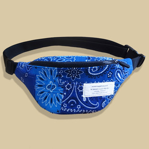 Working Class Heroes Bandana Patchwork Fanny Pack -Blue