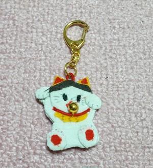 【ハンドメイド製品】猫デザインキーホルダー