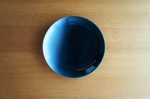 砥部焼/5寸皿/青/ヨシュア工房