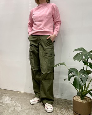 1970-80s MADE IN USA ULTRA SWEATS by Pannill plain sweat pink【S位】