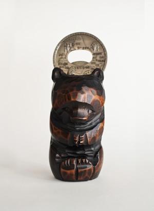 木彫りの熊の栓抜き