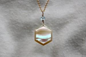 夜光貝のネックレス -hexagon- 14kgf
