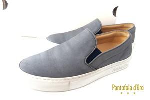【中古】パントフォラドーロ|Pantofola d'Oro|ヌバック スリッポン|SM71|39