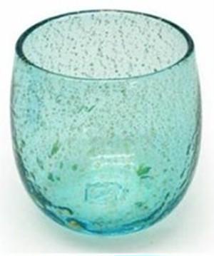沖縄琉球 金箔たる型グラス・水色