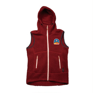 UN3510 Boa fleece hoody vest / Burgundy