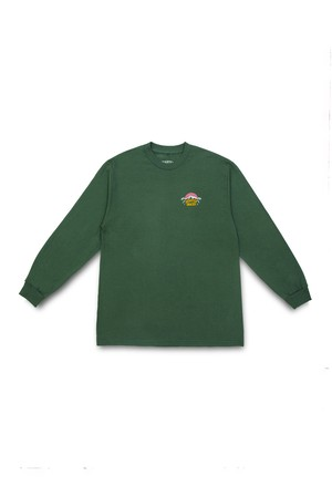 QUARTER SNACKS MOUNTAIN L/S TEE GREEN