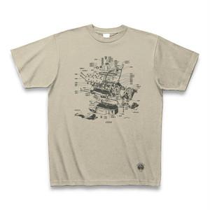 30s V8engine Tshirt V8エンジンTシャツ