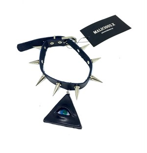 reptelis eye  studs(long)choker / blue
