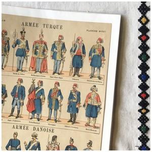 広告 ペーパー アーミーユニフォーム トルコ軍 デンマーク軍 1889 ヴィンテージ