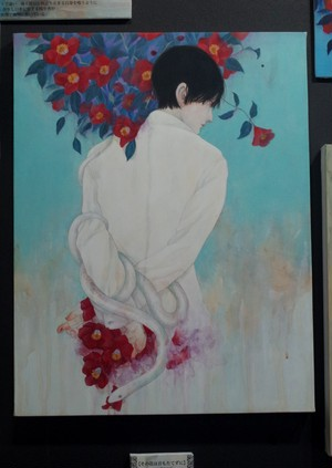 原画「その花は音もたてずに」シマザキマリ