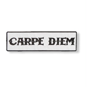 CARPE DIEM LOGO PATCH (WHITE)