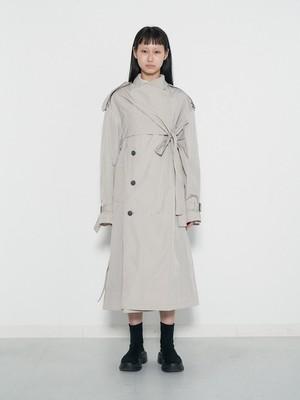 (表示価格は前金30%の価格です)Belted Trench Coat Nylon