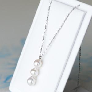【ワークショップ】akoya真珠の3ケ付ペンダントキット