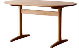aテーブル(楕円) 小樽オーク W1650