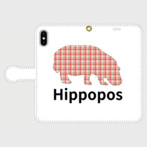 手帳型iPhoneケース「Hippopos(ファンシー)」