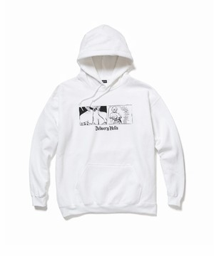 """come loose"""" HOODIE  WHITE  19SS-DH-03"""