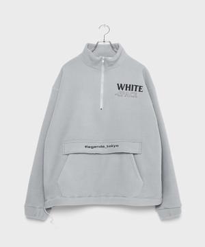 WHITE SPACE Fleece×Boa Tops [Blue Glay]