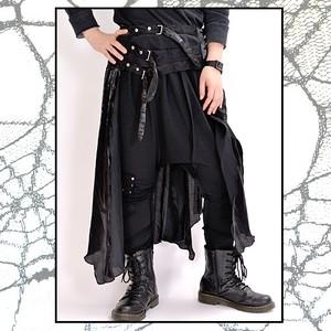 蜘蛛レース☆ビンテージサテン風フラップスカート