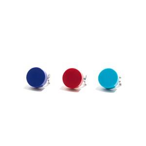 模造石イヤリング/円形