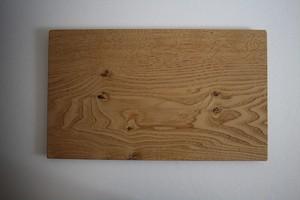 松下由典|木のトレー特大 栗材 節あり ①