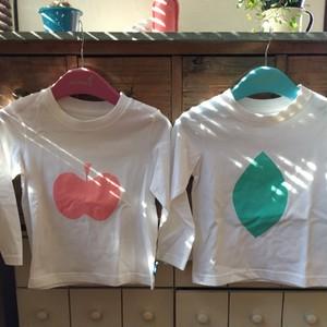 大きなりんごとレモンがかわいいキッズTシャツ 95