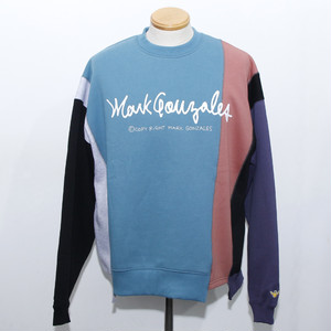 CRAZY CUT CREW SWEAT (TEAL GREEN MULTI)