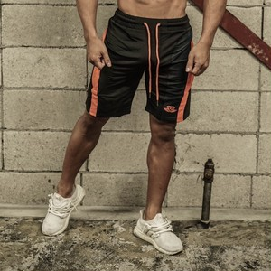 BODY ENGINEERS ANAX Performance short – Black & Dutch Orange