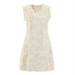 お花ノースリーブドレス