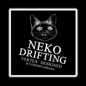 猫ドリステッカー黒四角