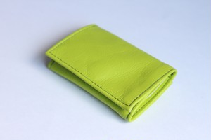PLAY WALLET - LEATHER[LIME GREEN]