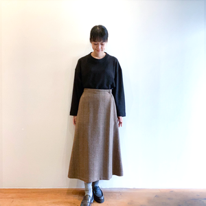 C21650 Tweed Fake Wraparound skirt