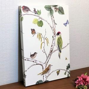 UK製輸入壁紙アートパネル|Sanderson|花と鳥柄|Made in Kuukan aga