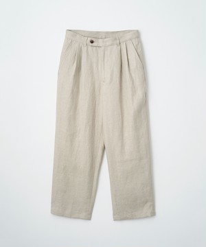 (JUHA) HERRINGBONE LINEN CROPPED PANTS