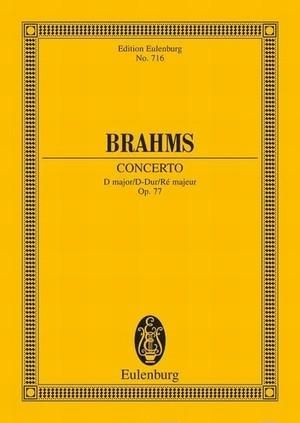 ブラームス:ヴァイオリン協奏曲 二長調 Op.77/ミニチュアスコア