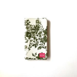 北欧デザイン 手帳型スマートフォンケース [ベルトなし] | iPhone6/7/8/SE(第二世代)兼用 | stella green