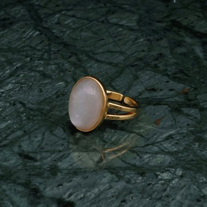 OVAL BIG STONE RING GOLD 002